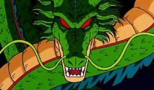 """Shenron o meglio Shenlong é il Dio Drago della terra, una volta riunite le sette sfere e citata la parola magica """"Appari Dio Drago"""", il possente Drago compare dal nulla per esaudire un desiderio dalla persona che l'ha evocato. Una volta esaudito il desiderio il Drago scompare nel cielo, insieme a lui volano via in direzioni diverse anche le sfere del Drago e per un anno solare terrestre saranno comunissime rocce, in attesa che tornano attive."""