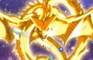 Super Shenron, chiamato anche Dio Drago Divino, è il Drago evocato utilizzando le Super Sfere del Drago nella serie di Dragon Ball Super. È di proporzioni infinitamente superiori a Shenron e Polunga, anche i suoi poteri sono decisamente più forti dei draghi evocati sulla Terra e sul pianeta Namecc. Per evocare bisogna pronunciare la frase di evocazione in lingua degli Dei.