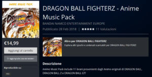 dragon ball fighter z anime music pack