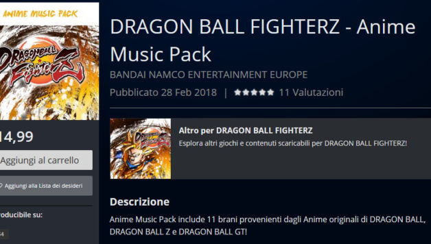dragon ball fighter z anime music pack