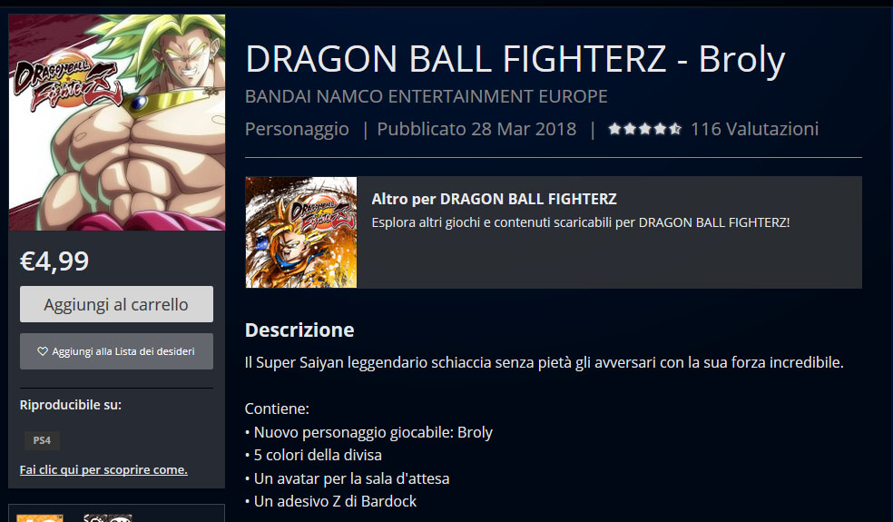 Dragon Ball FighterZ, disponibili i DLC di Broly e Bardack