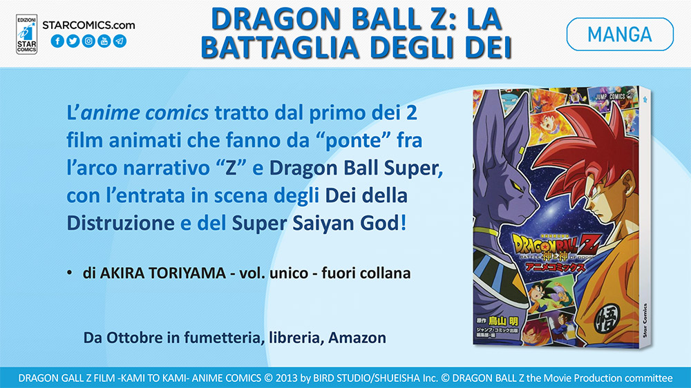 Comicon 2018, gli annunci di Star Comics per Dragon Ball