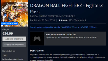 dragon ball fighter z season pass