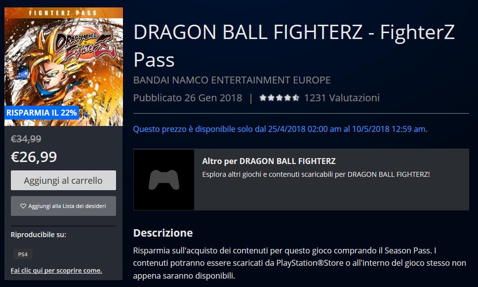 Dragon Ball, arrivano gli sconti sul Playstation Store
