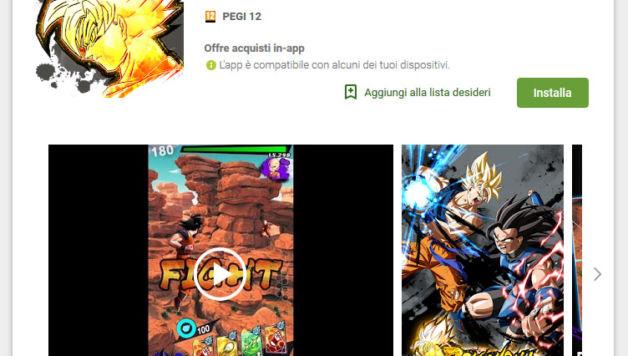 Dragon Ball Legends, disponibile in Italia sul PlayStore