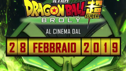dragon ball super broly 28 febbraio al cinema