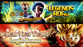 DB Legends, disponibile Lunar New Year! Login Bonus e Legends Road - Trunks (Youth)